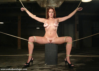 Suspension bondage video