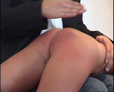 spanking young lady